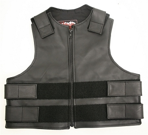 Kids Tactical Style Vest All Leather