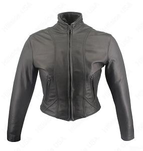 Women's Shaped Motorcycle Leather Jacket