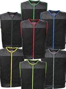 Zipper Racer Vest Cordura - Military Grade Fabric / Leather (Custom-Made)
