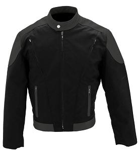 Men's Vented Leather & Cordura Jacket