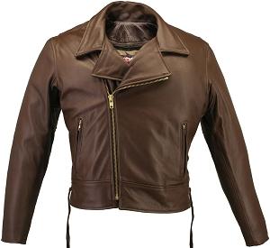 Men's Beltless Brown Biker Jacket (SALE)