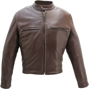 Brown Hillside USA Cafe Racer Jacket (SALE)