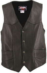 Men's Basic Biker Leather Vest (Custom)
