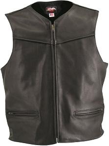 Men's Zipper Racer Leather Vest