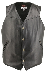 Men's Solid Back Horsehide Vest (custom)