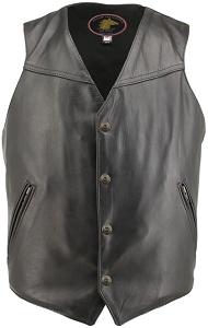 Men's Solid Front Horsehide Vest