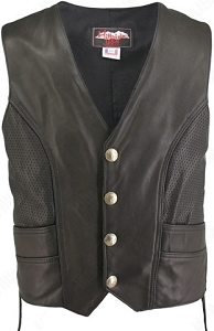 Men's Perforated Biker Vest (Custom)