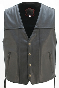 The Invader Full Back Motorcycle Leather vest