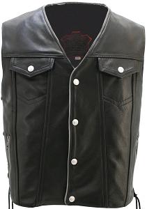Men's Denim Style Lace Side With Reflective Trim Vest
