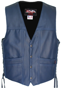 Full Back Navy Blue Cruiser Vest