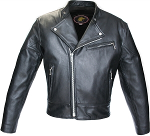 Hillside USA Hybrid Horsehide Biker Jacket (Black)