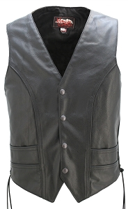 Laced Full Back Motorcycle Vest
