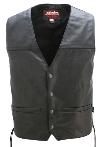 Seamless Back Panel Club Biker Vest