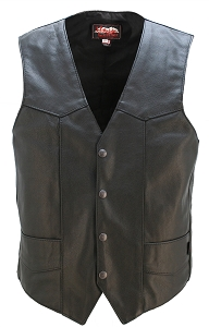 Smooth Back Classic Motorcycle Vest