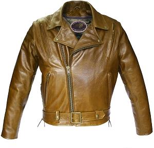 American Bison Vented Biker Jacket Brown (SALE)