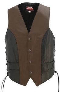 Two Tone Lightweight Biker Vest