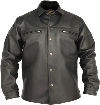 Men's Horsehide Black Shirt