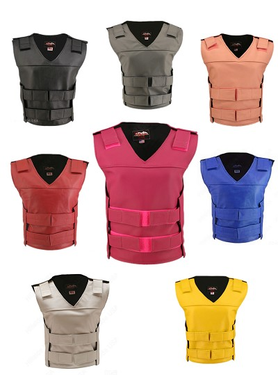 Women's Tactical Style Leather Vest