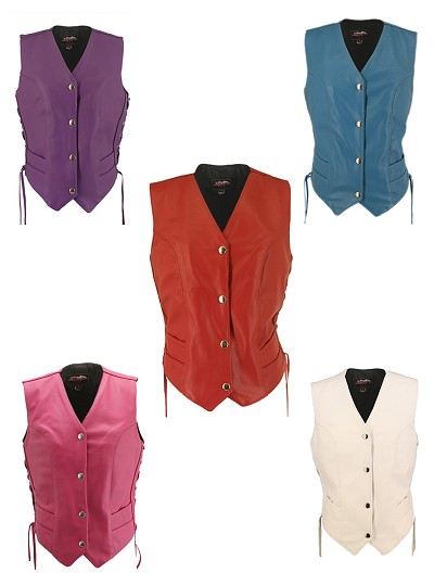 Women's Leather Vest
