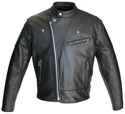 Hillside USA Hybrid Horsehide Biker Jacket(Black)