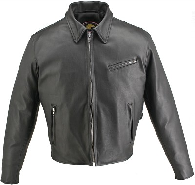 Men's Horsehide Racer Jacket Snap Down Collar (SALE)