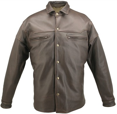 American Made Mens Leather Shirt