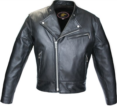 Hillside USA Hybrid Horsehide Biker Jacket(Black)