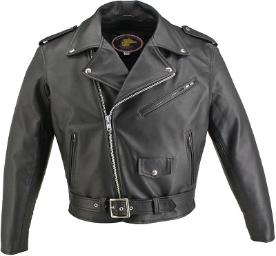 Men's Basic Motorcycle Horsehide Jacket