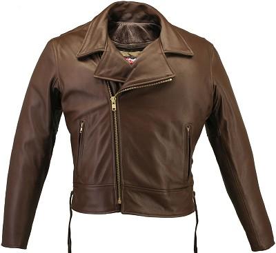 Men's Beltless Brown Biker Jacket