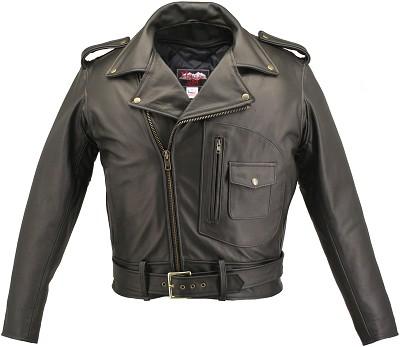 Men's D Pocket Biker Leather Jacket