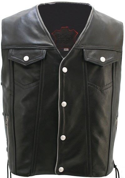 Men's Denim Style Lace Side With Reflective Trim Vest