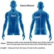 Mens-Denim-Style-Vest-With-Collar How To Measure