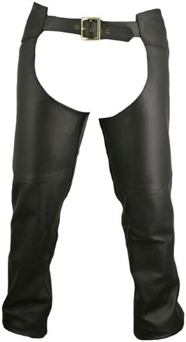 Men's Double Stitched Leather Chaps