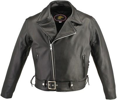 Men's Full Belted Horsehide Motorcycle Jacket