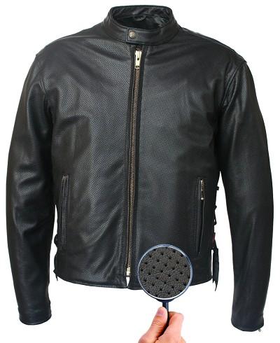 Men's Hillside USA Full Perforated Cafe Racer Jacket