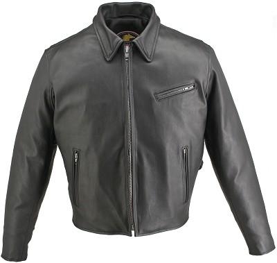 Men's Horsehide Racer Jacket Snap Down Collar