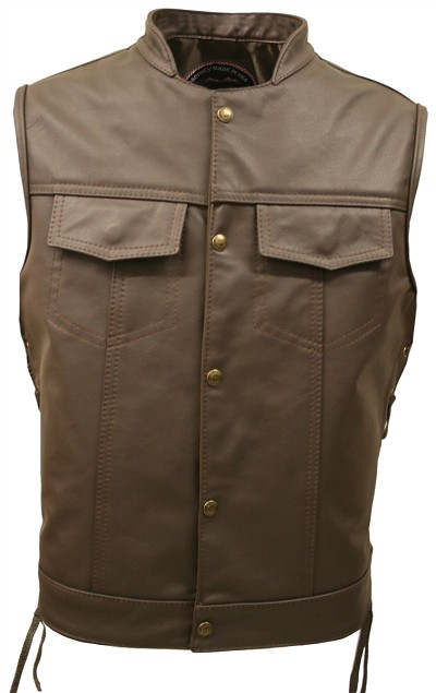 Men's SOA Brown Leather Vest (Limited Edition)
