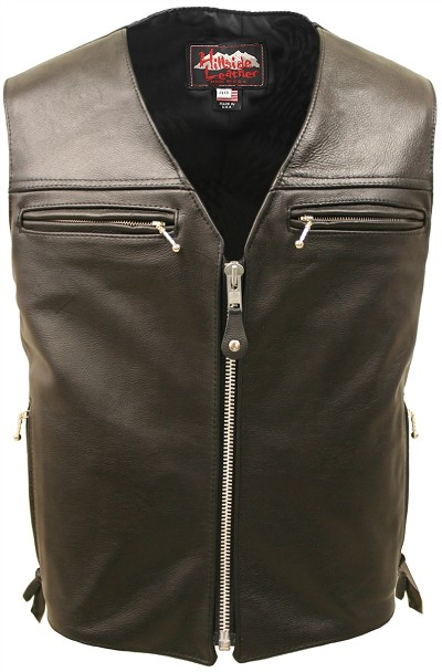 The Elite Motorcycle Leather Vest