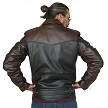 Two Tone D Pocket Horsehide Motorcycle Jacket Back Robert