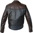 Two Tone D Pocket Horsehide Motorcycle Jacket Back