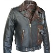 Two Tone D Pocket Horsehide Motorcycle Jacket Side View