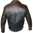 Two Tone D Pocket Horsehide Motorcycle Jacket Back 2