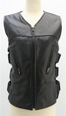 Women's Hillside USA Leather Bulletproof Style Motorcycle Vests