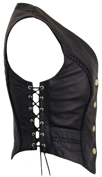Size Chart - Women's Braided Leather Vest