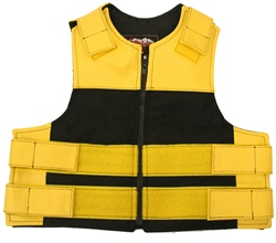 Kids Combo Leather/Cordura Tactical Vest-Yellow & Black