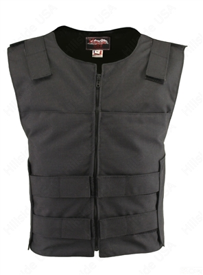 Men's Cordura Zippered Tactical Style Vest/Black
