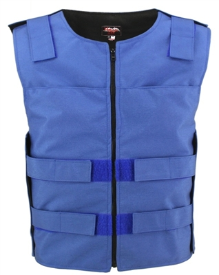 Men's Cordura Zippered Tactical Style Vest/Blue