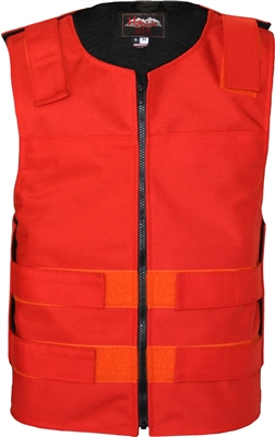 Men's Cordura Zippered Tactical Style Vest/Orange