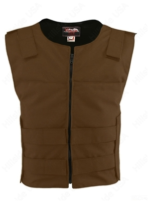Men's Cordura Zippered Tactical Style Vest/Brown
