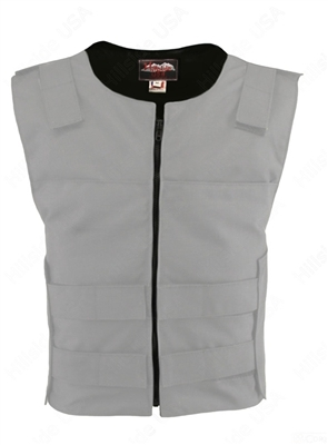 Men's Cordura Zippered Tactical Style Vest/White
